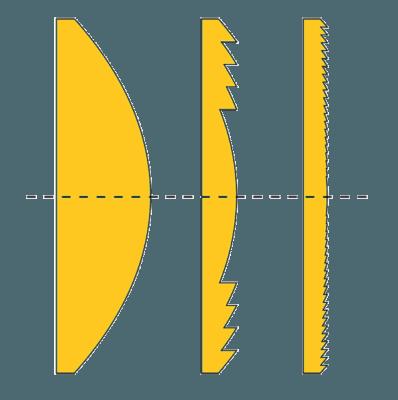 Solarzellel Fresnellinse