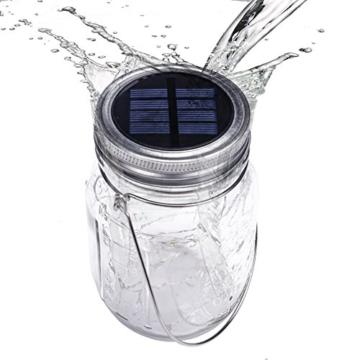 Solar Licht im wasserdichten Dekoglas
