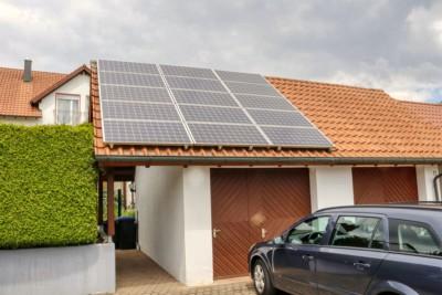 solaranlage garage carport